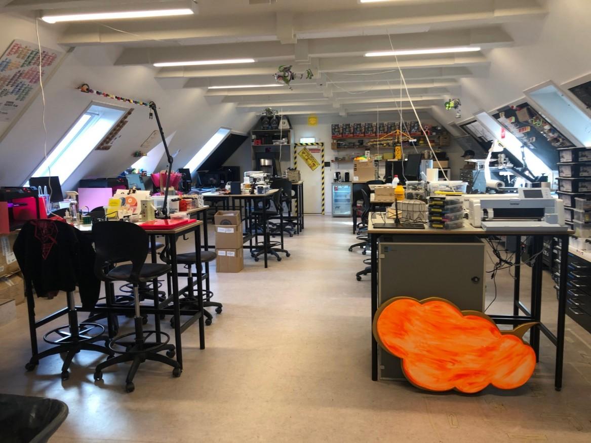 Craft. Craftlokale med elever